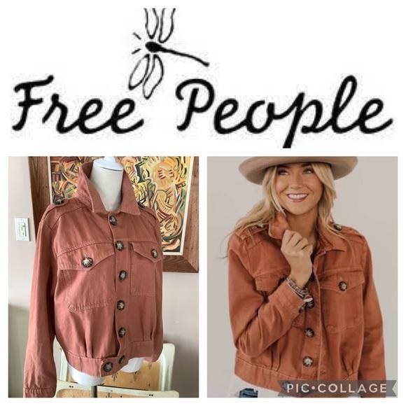 Free People Terracotta Jean Jacket